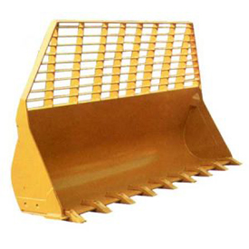 Buckets for waste material handling