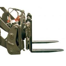 Forche traslabili e rotanti con movimentazione idraulica