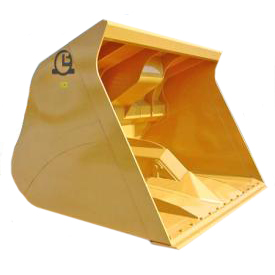 Patented 3 Volumes bucket with straight sides