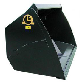 High tipping bucket with slight convex sides