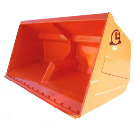 High tipping bucket for glass, iron minerals, etc.
