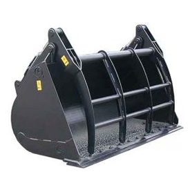 Light material bucket with retainer