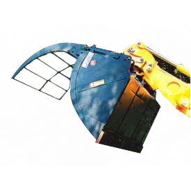 Shovel with retainer with convex sides