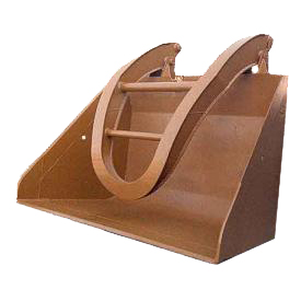 Shovel with split retainer with straight sides